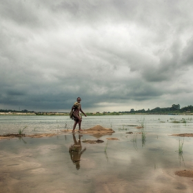 Flood in West Bengal, India